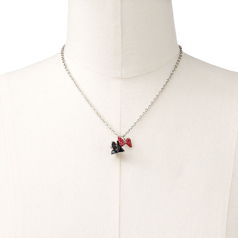 Disney Mickey Mouse Silver Tone Mickey Hat and Bow Pendant