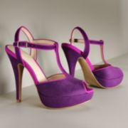 ELLE Peep-Toe Platform Dress Heels