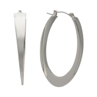 Jennifer Lopez Oval Hoop Earrings