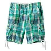 Mudd Plaid Cargo Bermuda Shorts - Girls Plus