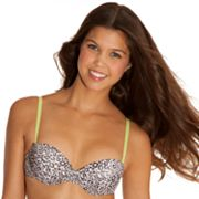 SO Cheetah Strapless Push-Up Bra