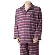 Residence Plaid Flannel Pajama Set - Big and Tall