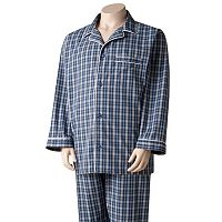 Big & Tall Residence Plaid Pajama Set