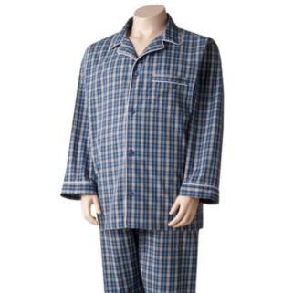 Big & Tall Residence Plaid Pajama Set