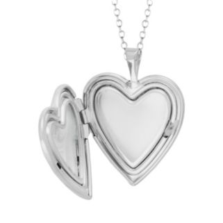 Sterling Silver Diamond Accent Heart Locket