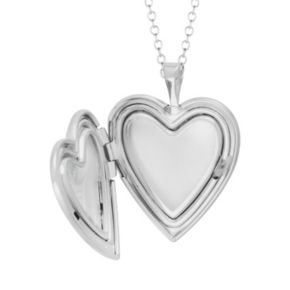 Sterling Silver Flower Heart Locket