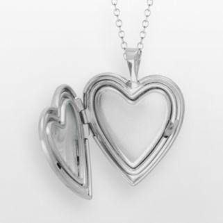 Sterling Silver Butterfly Flower Heart Locket