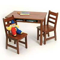 Lipper Children's Rectangular Table & Chairs Set