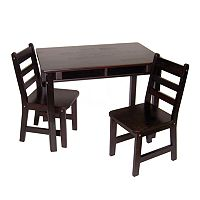 Lipper Children's Rectangular Table & Chairs Set