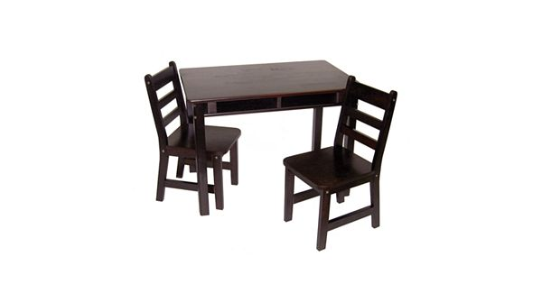 Lipper Children S Rectangular Table And Chairs Set