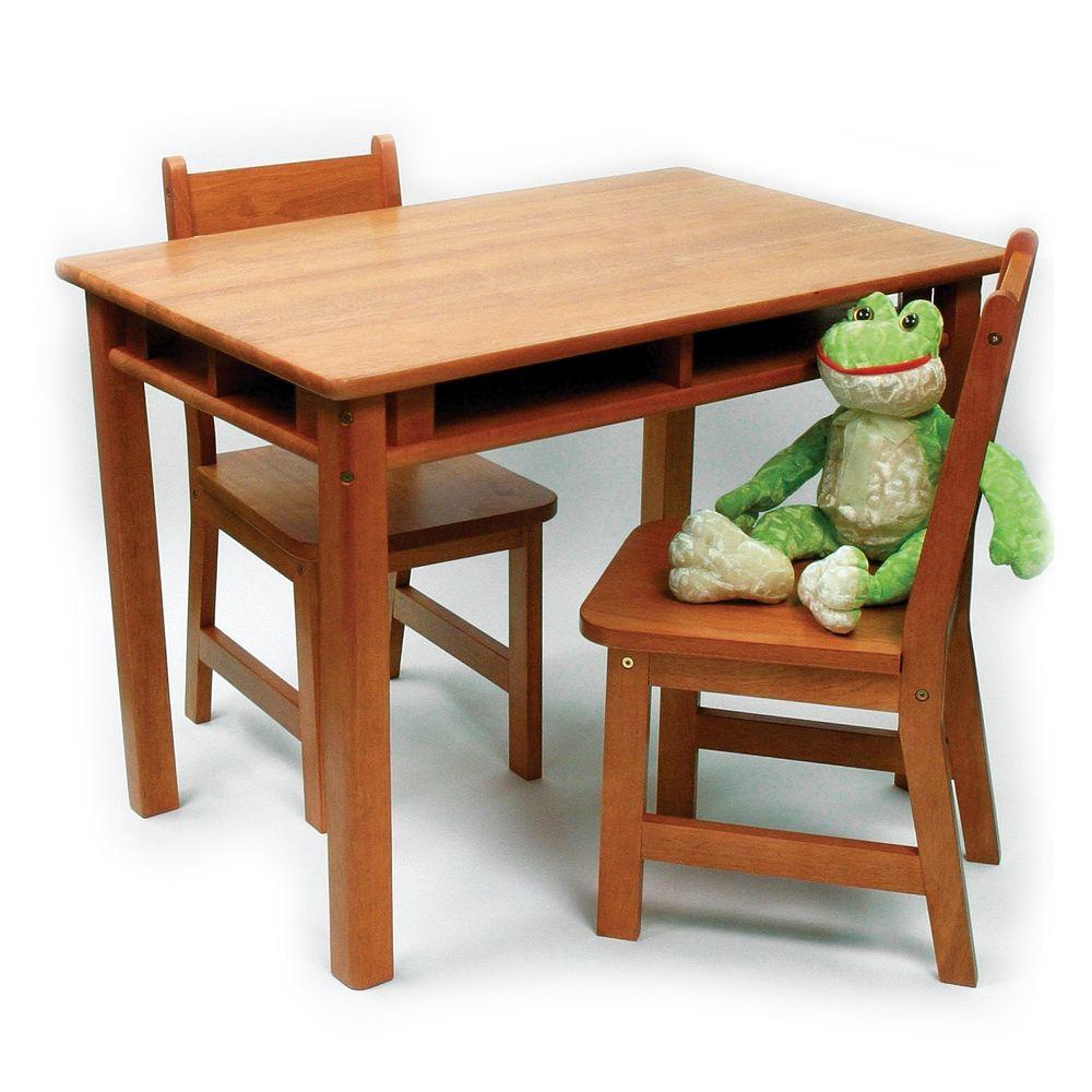 Lipper Children\'s Rectangular Table & Chairs Set