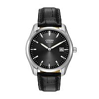 Citizen Eco-Drive Men's Leather Watch - AU1040-08E