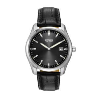 Citizen Eco-Drive Men's Leather Watch - AU1040-08E