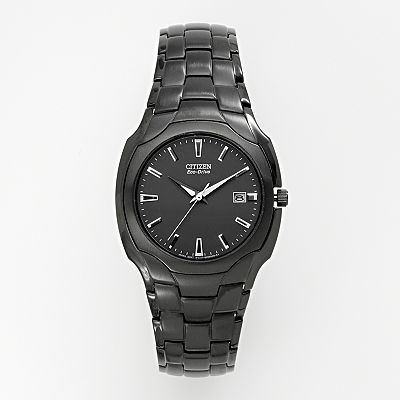 Citizen Eco-Drive Stilleto Stainless Steel Black Ion Chronograph Watch - BM6015-51E - Men