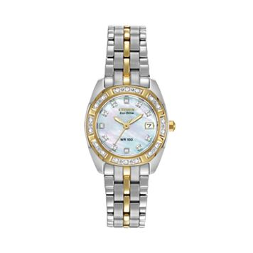 Citizen Eco-Drive Women's Paliadion Diamond Two Tone Stainless Steel Watch - EW1594-55D
