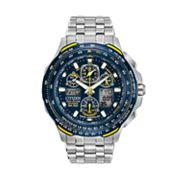 Citizen Eco-Drive Blue Angels Skyhawk A-T Stainless Steel Flight Computer Chronograph Watch - JY0040-59L - Men