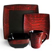 American Atelier Boa Red 16-pc. Dinnerware Set
