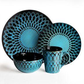 American Atelier Sicily Blue 16-pc. Dinnerware Set   Kohls