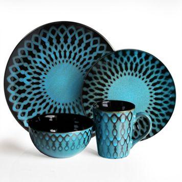 American Atelier Sicily Blue 16-pc. Dinnerware Set