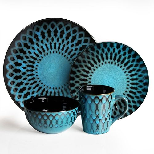 American Atelier Sicily Blue 16-pc. Dinnerware Set