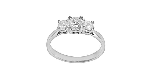 Diamond Rings For Sale Kohls: Round-Cut Certified Diamond 3-Stone Engagement Ring In 14k