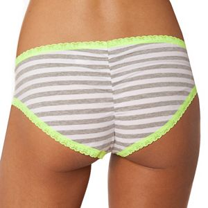 SO® Lace-Trim Hipster Panty