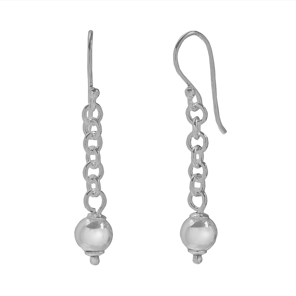 Individuality Beads Sterling Silver Drop Earrings