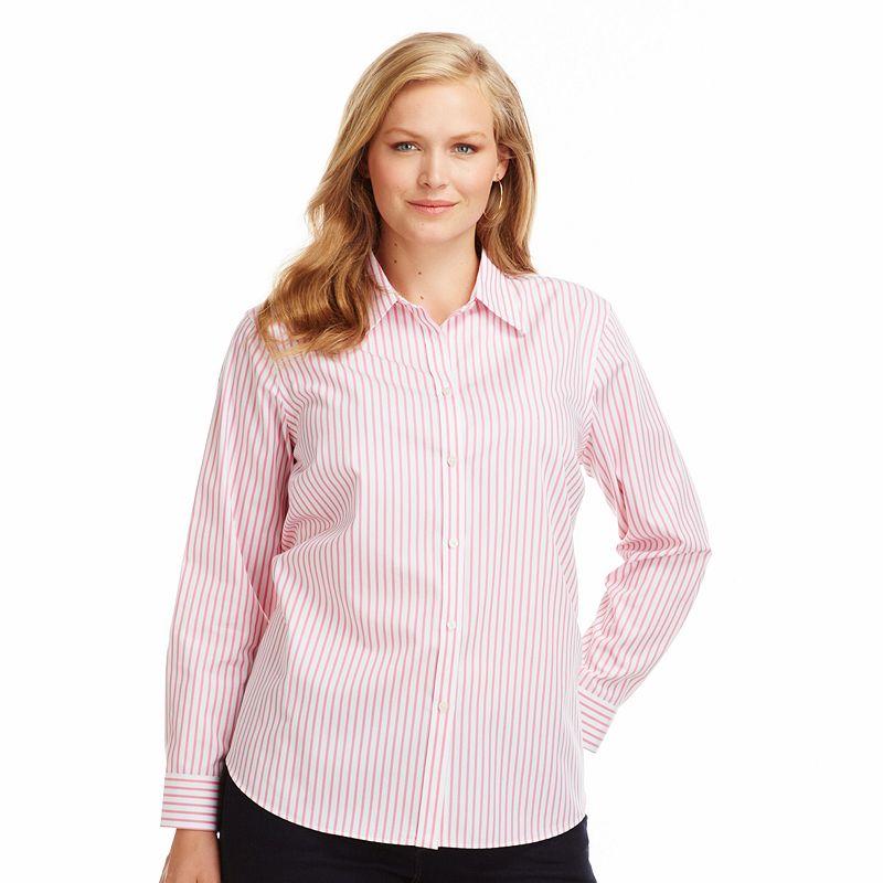 Kohl 39 s plus size fashions plus size now for No iron white shirt womens