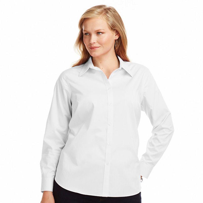Plus Size Chaps No Iron Broadcloth Shirt