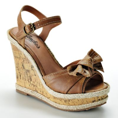 Candie's Platform Wedge Sandals