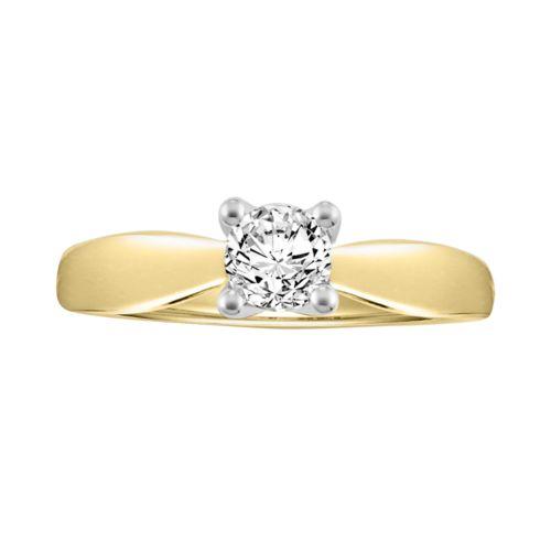 Cherish Always Round-Cut Certified Diamond Engagement Ring in 14k Gold (5/8-ct. T.W.)