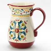 Bobby Flay Home Sevilla Red Pitcher
