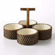 Bobby Flay Rattan 4-pc. Dip Set