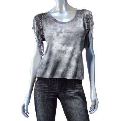 Rock and Republic Tie-Dye Embellished Tee