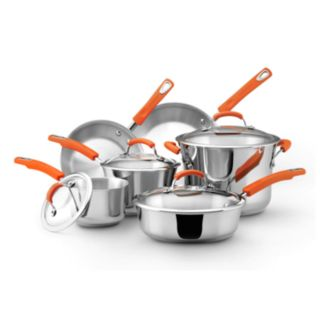 Rachael Ray 10-pc. Stainless Steel Cookware Set