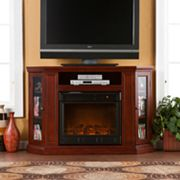 Abbey Convertible Media Console Electric Fireplace