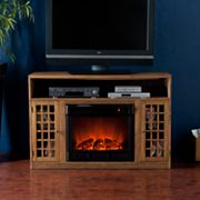 Barnett Media Console Electric Fireplace