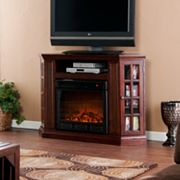 Manheim Convertible Media Console Electric Fireplace
