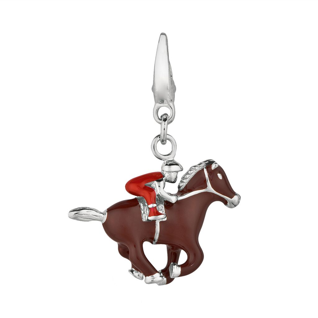 Sterling Silver Race Horse Charm