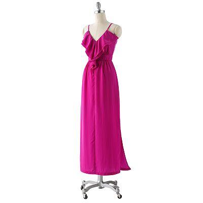AB Studio Ruffle Empire Maxi Dress