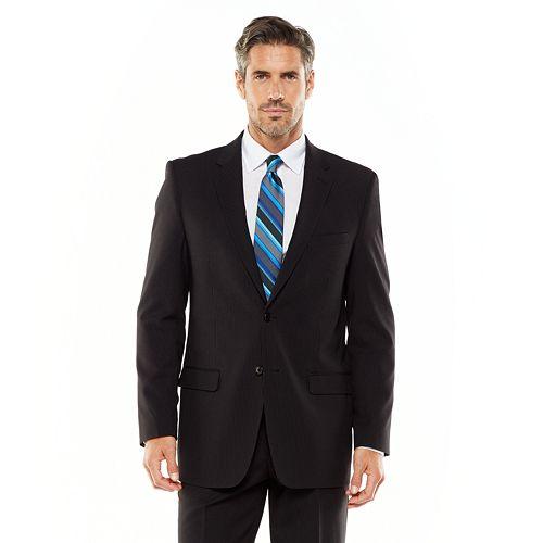 Men's Adolfo Classic-Fit Striped Charcoal Suit Jacket