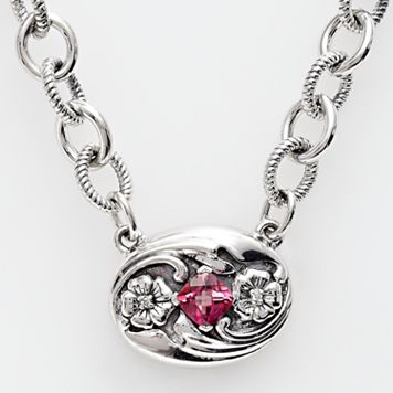 Lyric Sterling Silver Pink Topaz & Diamond Accent Necklace