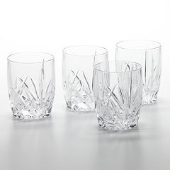 Marquis by Waterford Brookside 4 pc Double Old-Fashioned Glass Set