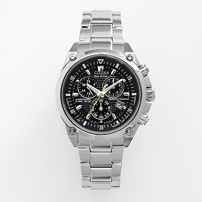 Citizen Eco-Drive Stainless Steel Perpetual Calendar Chronograph Watch - BL5380-58E - Men