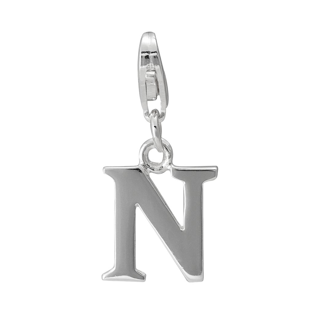 Personal Charm Sterling Silver Initial Charm