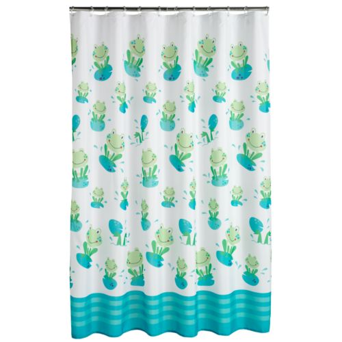 Jumping Beans Froggy Fun Fabric Shower Curtain