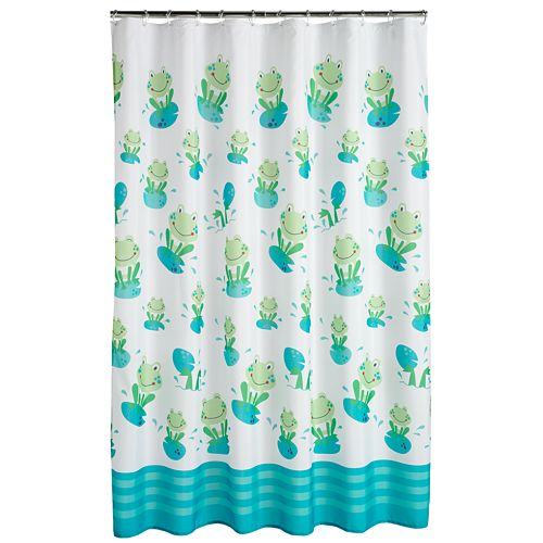 Jumping Beans Froggy Fun Fabric Shower Curtain