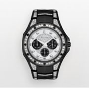 Bulova Marine Star Stainless Steel Black Ion Crystal Watch - 98C102K - Men