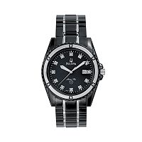 Bulova Marine Star Stainless Steel Black Ion Diamond Accent & Mother-of-Pearl Watch - 98D107 - Men