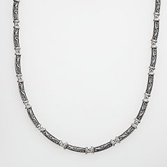 Lyric Sterling Silver Diamond Accent Link Necklace